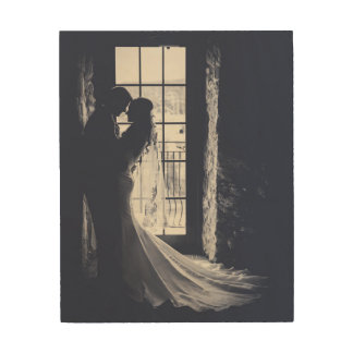 Custom Wedding Portrait Wood Print
