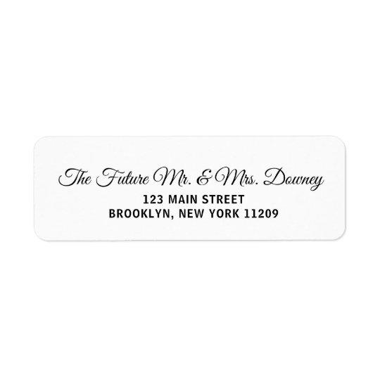Custom Wedding Return Address Labels