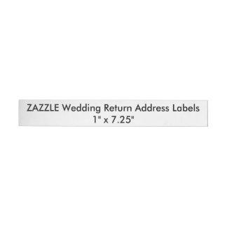 "Custom Wedding Return Address Labels 1""x7.25"" (24)"