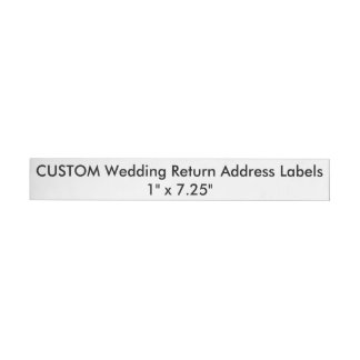 "Custom Wedding Return Address Labels 1"" x 7.25"" Wraparound Return Address Label"