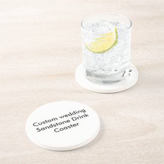 Custom wedding Sandstone Drink Coaster