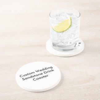 Custom Wedding Sandstone Drink Coaster Drink Coasters
