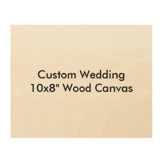 Custom Wedding Save The Date Wood Canvas