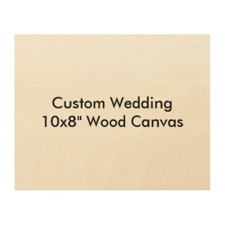 Custom Wedding Save The Date Wood Canvas