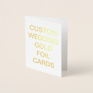 Custom Wedding Small Personalized Gold Foil Card