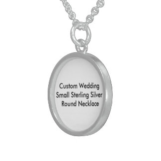 Custom Wedding Small SterlingSilver Round Necklace Sterling Silver Necklaces
