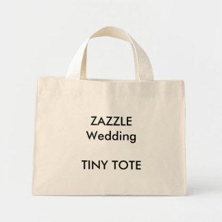 "Custom Wedding Small ""Tiny"" Tote Bag NATURAL Color"