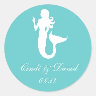 Custom Wedding Sticker Mermaid