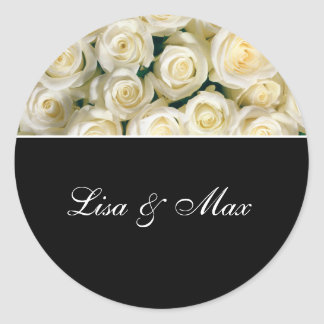 Custom Wedding Sticker Roses