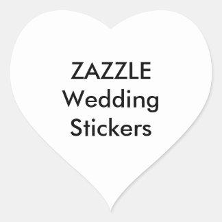 Custom Wedding Stickers HEART GLOSSY (20 pk.)