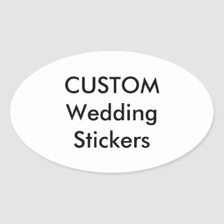 Custom Wedding Stickers OVAL GLOSSY (4 pk.)