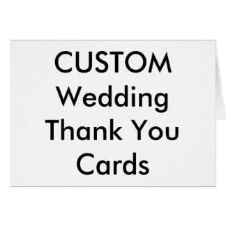 """Custom Wedding Thank You Cards 7"""" x 5"""""""