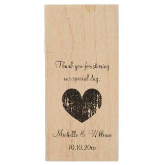 Custom wedding thank you favor USB flash drive Wood USB 2.0 Flash Drive