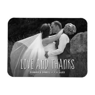 Custom Wedding Thank You Love And Thanks Photo Magnet