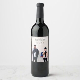 Custom Wedding Wine Label