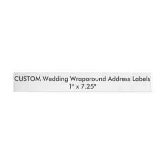 """Custom Wedding Wraparound Address Labels 1""""x7.25"""" Wraparound Address Label"""
