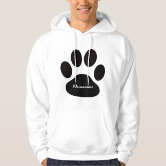 Custom Weimaraner Breed Large Black Dog Paw Hoodie