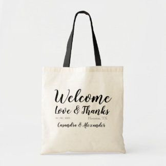 Custom Welcome Hotel Gift Favor Bag Wedding