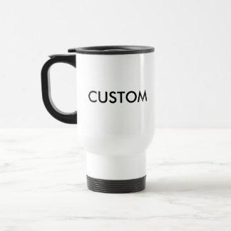 Custom White Coated Stainless Steel Travel Mug