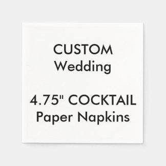 Custom White COCKTAIL Disposable Paper Napkins