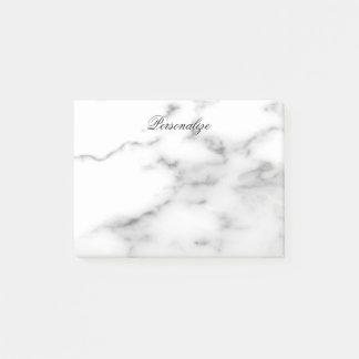 Custom white marble stone background post-it notes