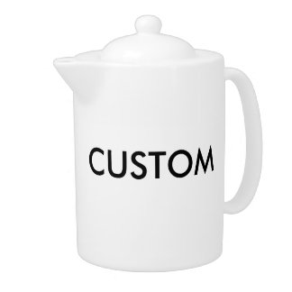 Custom White Porcelain Large 44oz Tea Pot