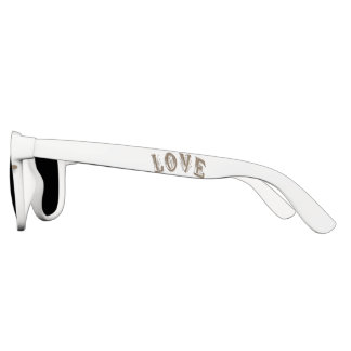 Custom White, Premium Smoke Sunglasses