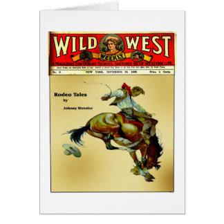 Custom Wild West Bronc Rider Cowboy Card