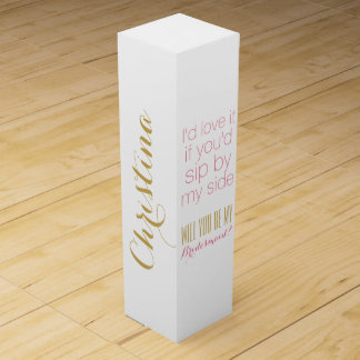 Custom Will you be my bridesmaid bridesmaids gift Wine Boxes