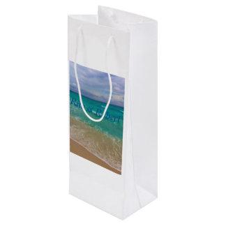 Custom Wine Gift Bag/ Beach Wedding Wine Gift Bag