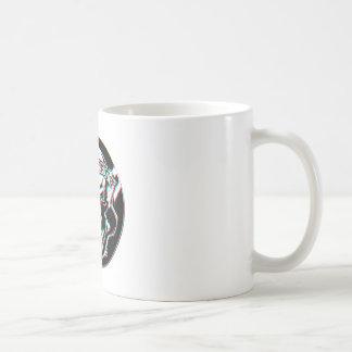 Custom Winking Barber Shop Skull Basic White Mug