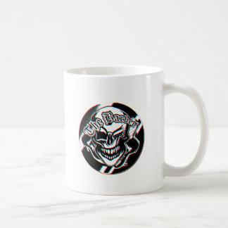 Custom Winking Barber Shop Skull Coffee Mugs
