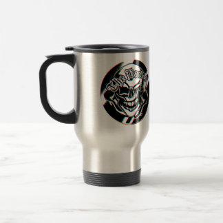Custom Winking Barber Shop Skull Stainless Steel Travel Mug