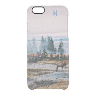 Custom Winter Snowfall trees reindeer joy holidays Clear iPhone 6/6S Case