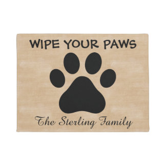 Custom Wipe Your Paws Doormat