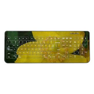 Custom Wireless Keyboard Yellow Flower