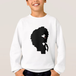 Custom woman silhouette with afro natural hair sweatshirt