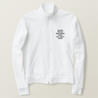 Custom Womens Embroidered Fleece Zip Jogger Jacket