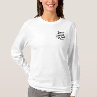 Custom Womens Embroidered Long Sleeve T-Shirt