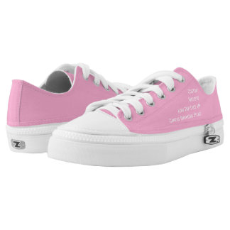 Custom Womens Lo Top Pink Canvas Sneakers Shoes
