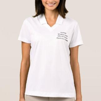 Custom Womens Nike Dri-FIT Pique Polo Golf T-Shirt