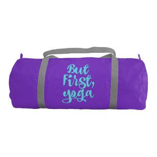 Custom Women's Sports Duffle Bag - But First, Yoga