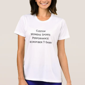 Custom Womens Sports Performance Microfiber Tshirt