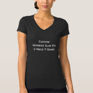 Custom Womens Stylish Dark Slim Fit V-Neck T-Shirt