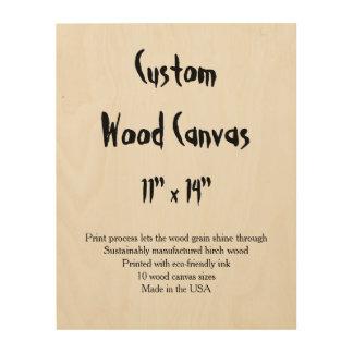 "Custom Wood Canvas - 11"" x 14"" vertical Wood Wall Art"