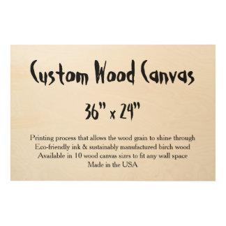 "Custom Wood Canvas - 36"" x 24"" large, horizontal"