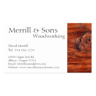Custom Woodworking Cabinets Business Card Template