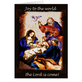 Custom Word Becomes Flesh Trinity Nativity card