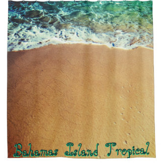 Custom Words Exotic Beach Shower Curtain