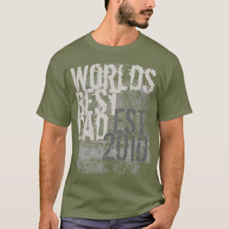 Custom Worlds Best Dad Grunge Graffitti Text Shirt
